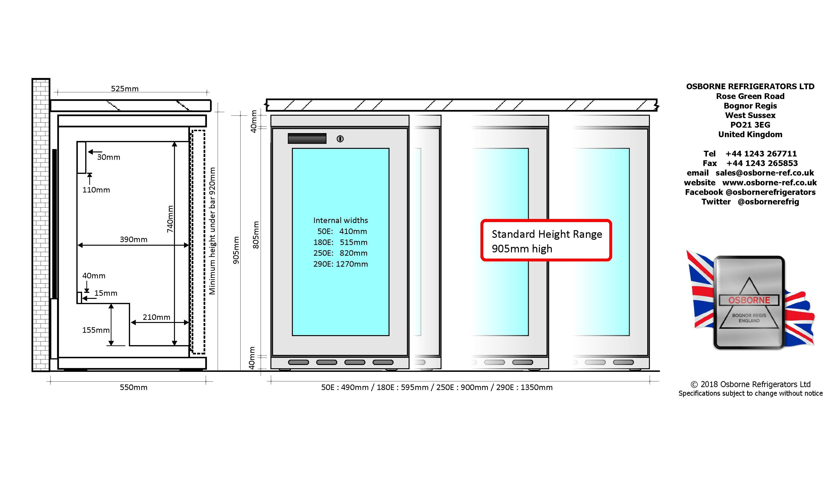 Products - Undercounter Display @ Osborne Refrigerators